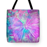 Pink Butterfly By Jan Marvin Tote Bag