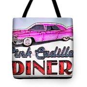 Pink Cadillac Diner Tote Bag
