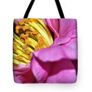 Pink Camellia And Stamen Tote Bag