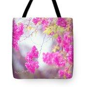 Pink Cascade Of Bougainvillea Tote Bag