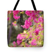 Pink Cascade Of Bougainvillea. Vertical Tote Bag