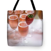 Pink Champagne And Strawberry Tote Bag