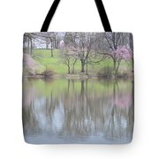 Pink Cherry Reflections Tote Bag