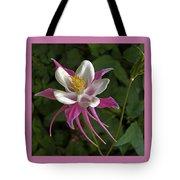Pink Columbine Flower Tote Bag