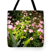 Pink Cosmos Swirl Tote Bag