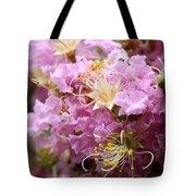 Pink Crepe Myrtle Closeup Tote Bag