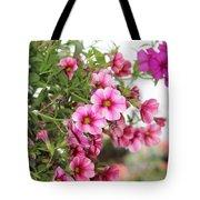 Pink Curtain Tote Bag