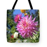 Pink Dahlia Flower Closeup Tote Bag