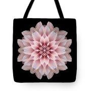 Pink Dahlia Flower Mandala Tote Bag by David J Bookbinder