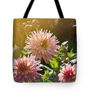 Pink Dahlia Garden Tote Bag