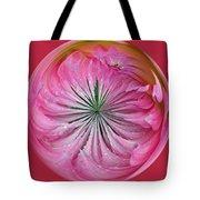 Pink Dahlia Orb Tote Bag