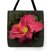 Pink Day Lily Tote Bag