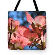 Transparent Glory Pink Dogwood Easter Flower Art Tote Bag