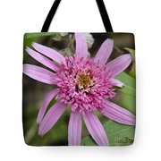 Pink Double Delight Squared Tote Bag