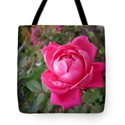 Pink Double Rose Tote Bag
