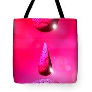 Pink Drops Tote Bag
