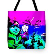 Pink Easter Island Tote Bag