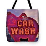 Pink Elephant Car Wash Tote Bag