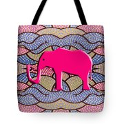 Pink Elephant Tote Bag by Patrick J Murphy