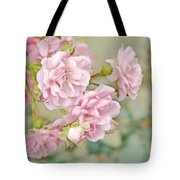 Pink Fairy Roses Tote Bag