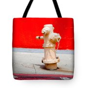 Pink Fire Hydrant Tote Bag