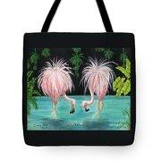 Pink Flamingo Booty Tropical Birds Art Cathy Peek Tote Bag