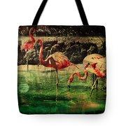 Pink Flamingos - Shangri-la Tote Bag