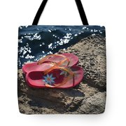 Pink Flip Flop Tote Bag