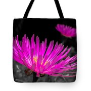 Pink Flower In A Green Grass - Splash Tote Bag