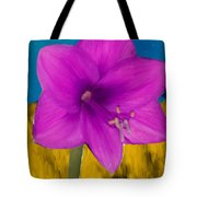 Pink Flower On A Fall Evening Tote Bag