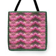 Pink Flower Petal Based Crystal Beads In Sync Wave Pattern Tote Bag