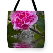 Pink Flower Reflection Tote Bag