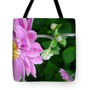 Pink Flower Shiver Tote Bag