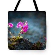 Pink Flower With Inkbrush Calligraphy Joyfulness Tote Bag
