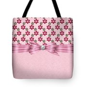 Pink Flowered Hearts  Tote Bag