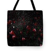 Pink Flowers In Twilight Tote Bag