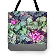 Pink Flowers Painting Tote Bag