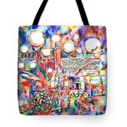 Pink Floyd Live Concert Watercolor Painting.1 Tote Bag