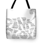 Pink Floyd Song Mosaic Tote Bag