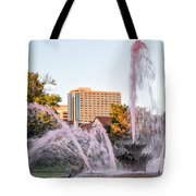 Pink Fountain For Breast Cancer Tote Bag by Terri Morris