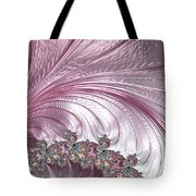 Pink Froth A Fractal Abstract Tote Bag