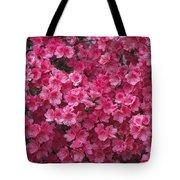 Pink Full Frame Azalea Blossoms Tote Bag