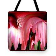 Pink Gladiolas Abstract Tote Bag