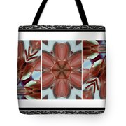 Pink Glass And Black Lace  Tote Bag