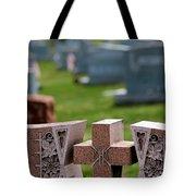 Pink Granite Tombstone Tote Bag