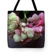 Pink Green And Rain Tote Bag