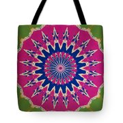 Pink Green Blue Abstract Tote Bag