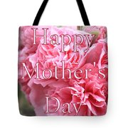 Pink Hollyhock Mother's Day Card Tote Bag