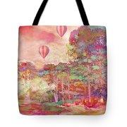 Pink Hot Air Balloons Abstract Nature Pastels - Dreamy Pastel Balloons Tote Bag