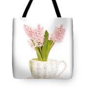 Pink Hyacinths Tote Bag